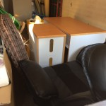 佐倉市にて座椅子、PCデスクの回収処分